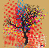 Colorful trees. In a decorative style Royalty Free Stock Photo