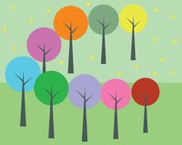 Colorful trees Royalty Free Stock Photography
