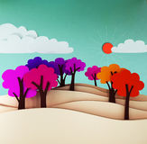 Colorful trees. Royalty Free Stock Photo