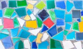 Colorful trencadis broken tiles mosaic. Stock Photos
