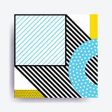 Colorful trend Neo Memphis geometric pattern Stock Image