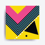 Colorful trend Neo Memphis geometric pattern Royalty Free Stock Photography