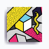 Colorful trend Neo Memphis geometric pattern Stock Photos