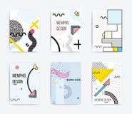Colorful trend Neo Memphis geometric poster Stock Photos