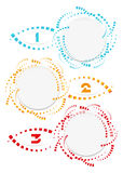 Colorful trendy abstract circles template design business infographic sign vector element Royalty Free Stock Images