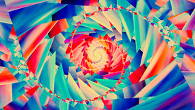 Colorful trendy spiral background Stock Images