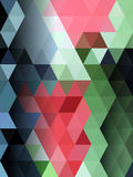 Colorful triangle Abstract background. Blue and green triangle with pink Stock Photo