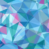Colorful Triangle Abstract Background. Vector Pattern of Geometric Shapes Stock Photography