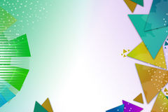 Colorful triangle and arc overlap, abstract background Stock Photo