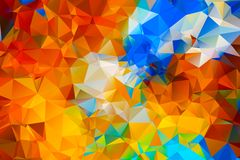Colorful triangle background. Abstract color Royalty Free Stock Photos