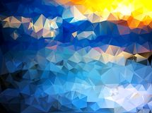 Colorful triangle background. Abstract color Stock Image