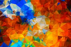Colorful triangle background. Abstract color Stock Illustration