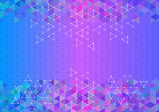 Colorful triangle background Royalty Free Stock Image