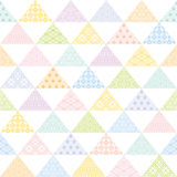 Colorful triangle background with Japanese traditional design. Royalty Free Stock Photo