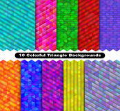 Colorful triangle background set Stock Image