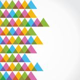 Colorful triangle background Stock Photos