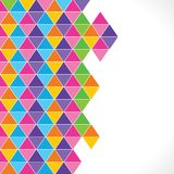 Colorful triangle background Stock Photography