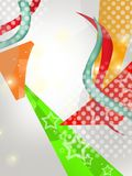 colorful triangle dotted, abstract background Royalty Free Stock Image