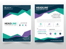Colorful triangle geometric Leaflet Brochure Flyer annual report template design, book cover layout design Royalty Free Stock Image