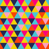 Colorful triangle geometric seamless pattern Stock Images