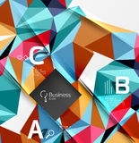 Colorful triangle mosaic 3d geometric object with infographics Royalty Free Stock Image