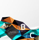Colorful triangle mosaic 3d geometric object with infographics Royalty Free Stock Images