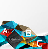 Colorful triangle mosaic 3d geometric object with infographics Stock Photography
