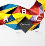 Colorful triangle mosaic 3d geometric object with infographics Royalty Free Stock Photography