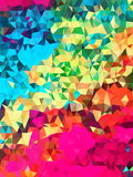 Colorful triangle pattern background Royalty Free Stock Image