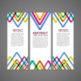 Colorful triangle pattern background advertising banner Royalty Free Stock Photo