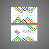 Colorful triangle pattern background business card template Royalty Free Stock Photos