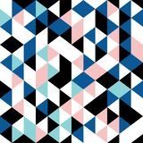 triangle pattern seamless geometric retro design memphis 90s. Background trendy for fashion textile print royalty free illustration