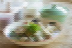 Colorful triangle pixelation effect filter abstract background. Royalty Free Stock Photos
