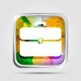 Colorful Triangle Polygonal briefcase icon for graphic Royalty Free Stock Photo