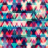 Colorful triangle seamless pattern with grunge effect Stock Photo