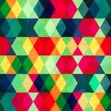 Colorful triangle seamless pattern with grunge effect Royalty Free Stock Photos