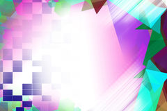 Colorful triangle and square overlap right side Royalty Free Stock Photo
