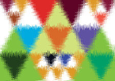 Colorful Triangle wall Royalty Free Stock Photography
