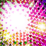 Colorful Triangles Stock Photography