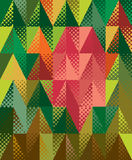 Colorful triangles Stock Photos