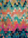 Colorful triangles with antique style background Royalty Free Stock Photo