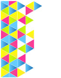 Colorful triangles layout Royalty Free Stock Photography