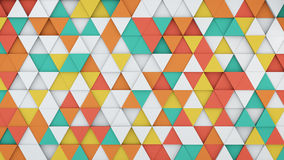 Colorful triangles extruding 3D render. Colorful triangles extruding. Abstract 3D rendering background Vector Illustration