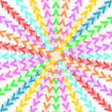 Colorful triangles forming a star-shaped pattern Stock Images