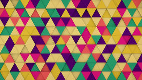 Colorful triangles hipster background 3D render. Colorful triangles extruded. Abstract hipster background with geometric elements. 3D render illustration Royalty Free Stock Image