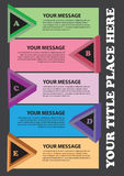 Colorful triangles layout Stock Photography