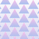Colorful triangles pattern background Stock Photo