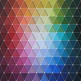 Colorful Triangles Pattern Stock Images