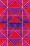 Colorful triangles. In red, violett and pink - abstract vector background royalty free illustration