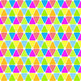 Colorful triangles wheel seamless tile Stock Photos